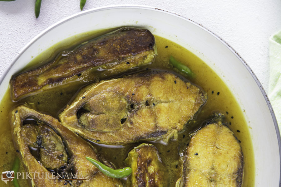 Ilish Begun Jhol - 2