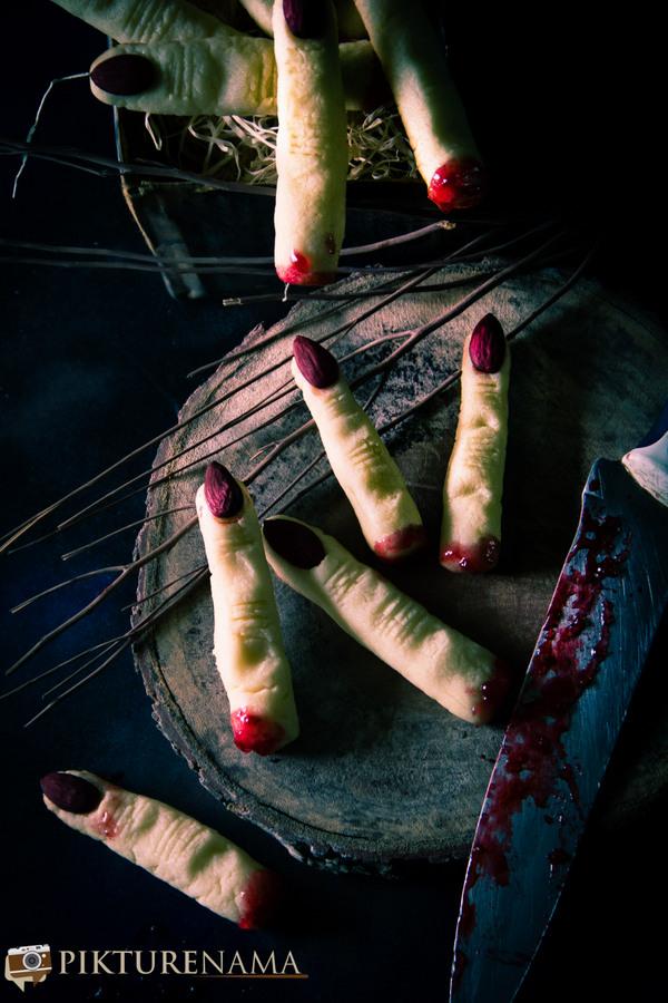 Halloween Witch Finger cookies - 7