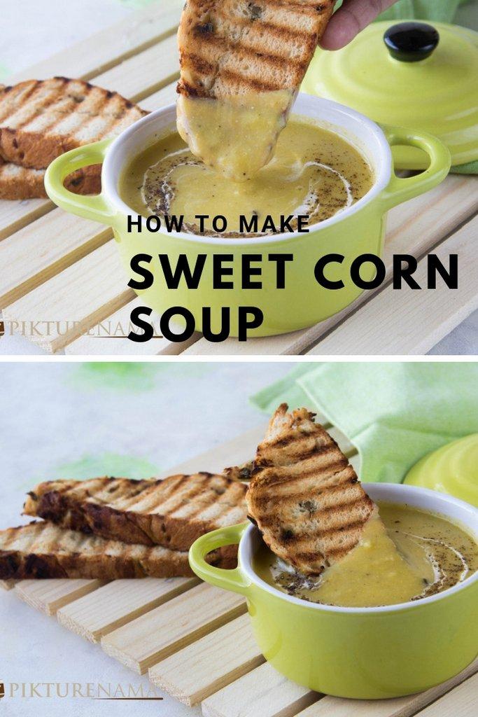 Sweet corn Soup Pinterest - 1