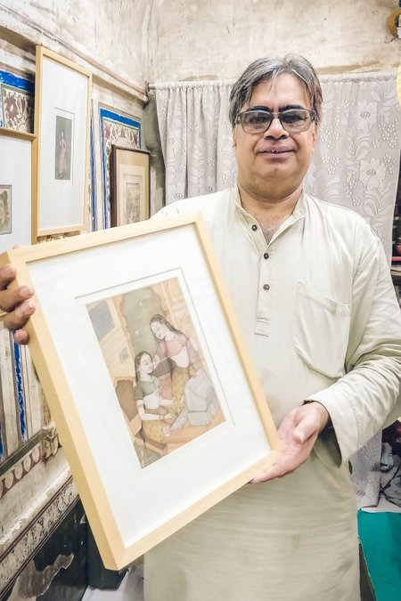 A meeting with Mahaveer Swami the famous miniature painter from Bikaner