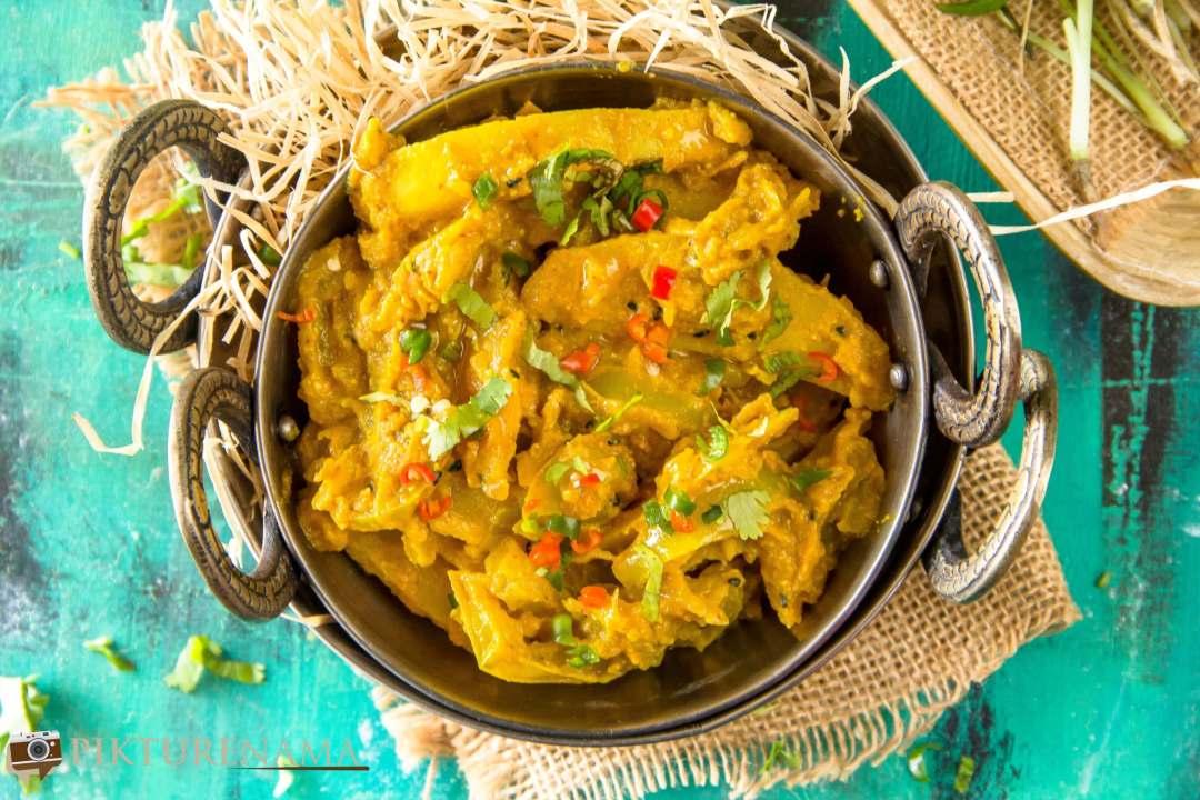 Kancha tomato jhaal - 4