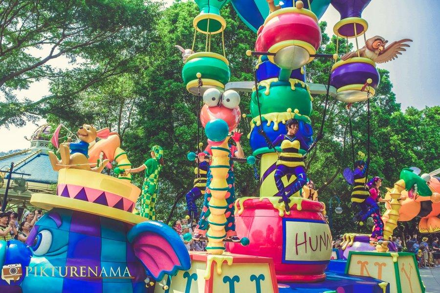 Flights of Fantasy in Hong Kong DIsneyland Roo and the owl