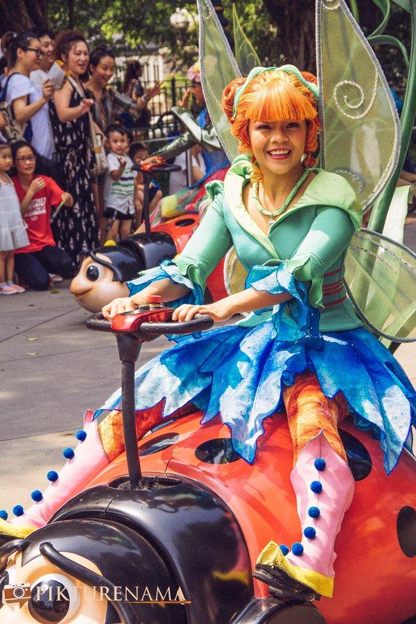 Flights of Fantasy in Hong Kong DIsneyland Tinkerbell