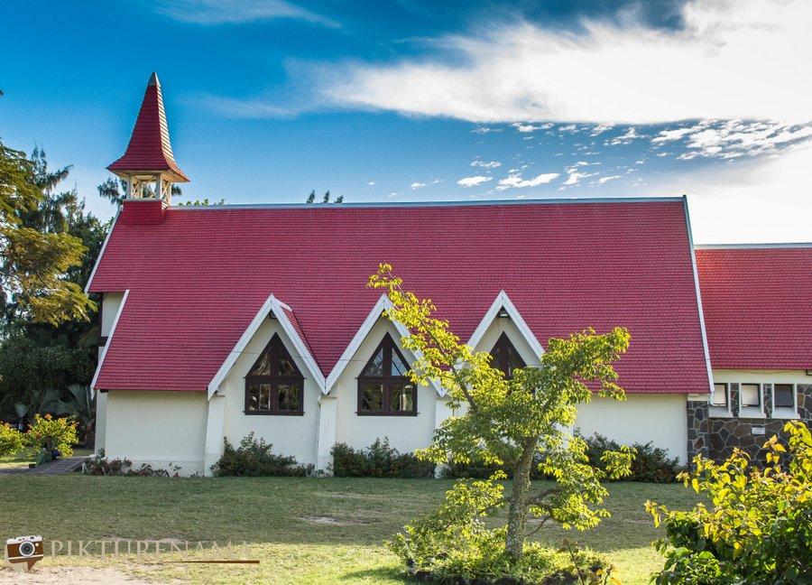 Notre Dame Auxiliatrice chapel or Cap Malhereux church Mauritius and churches in Mauritius