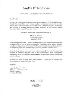 Exposure Award Letter 2015