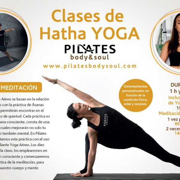 Clases de Hatha yoga, meditación y mindfulness.