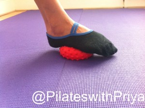 Pilates with Priya: Foot on Spikey ball-1