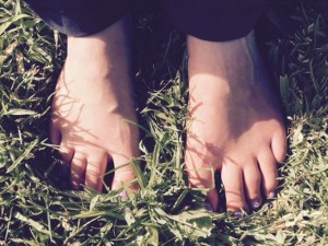Pilates with Priya: Barefoot on grass