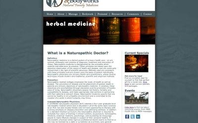 Pilcher Health and Bodyworks Website Design and Development