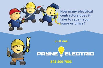Payne Electric Postcard