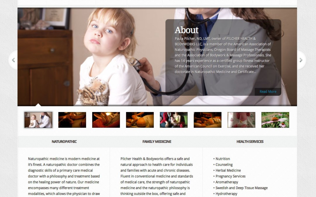 New Website for Pilcher Health & Bodyworks in Portland, Oregon!