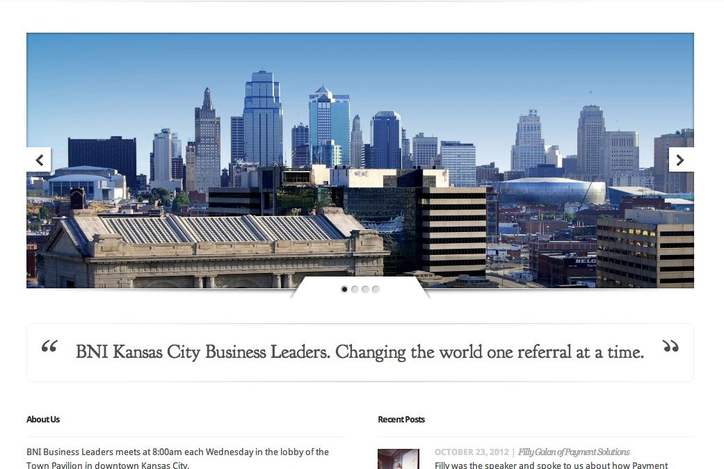 New Website for BNI Business Leaders in Kansas City!