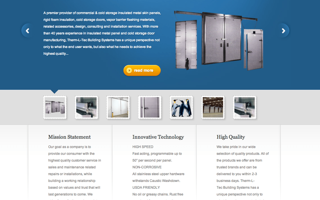 New Website for Therm-L-Tec Building Systems LLC!