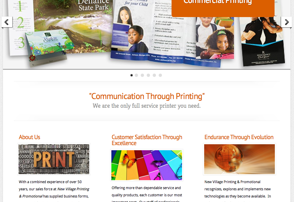 New Website for New Village Printing and Promotions LLC!