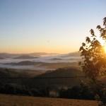 Sonnenaufgang bei den Pyrenäen