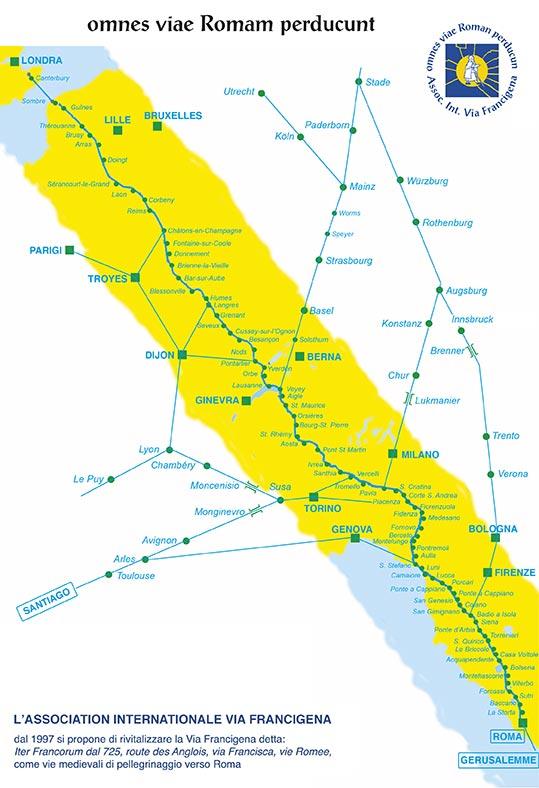 Karte via francigena