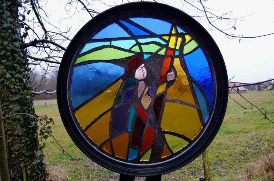 Pilger Glas gemalt