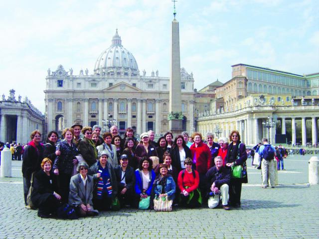 Pilgrims in Italy