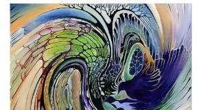 Pszichoabsztrakt festménykiállítás Piliscsabán