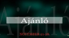 Műsoraink november 21-28.