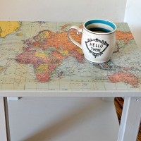 Ikea Hack Map Table