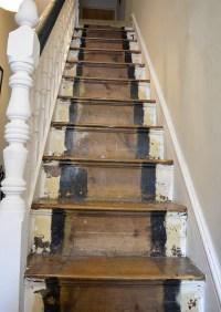 How to Make Marimekko Wallpapered Stairs - Pillar Box Blue