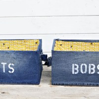 DIY Storage Box Using Denim (Ikea Pingla Hack)