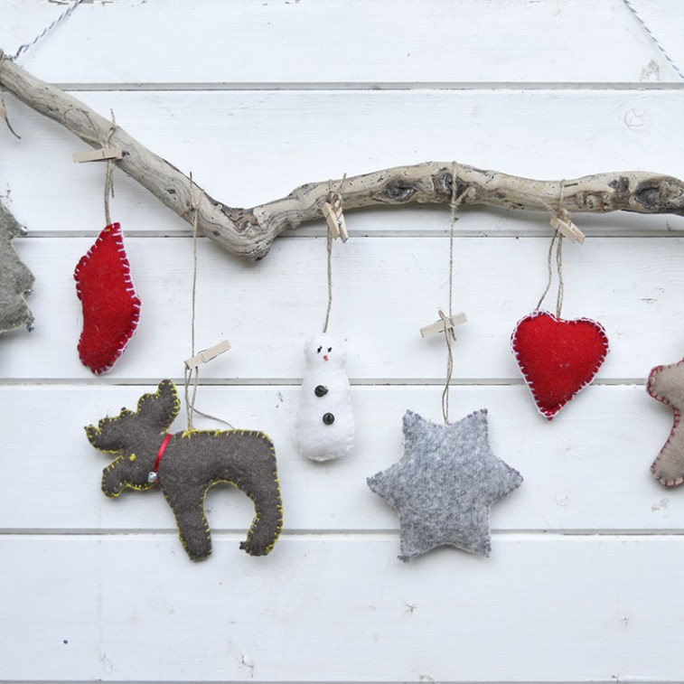 christmas ornaments made from sweaters
