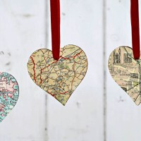 DIY Heart Map Ornament & Brooch