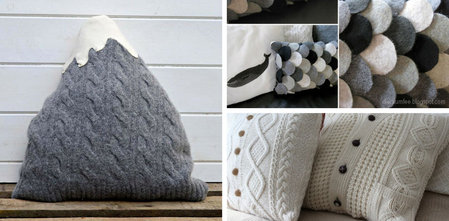 The Best Upcycled Old Sweater Pillows Tutorials  Pillar