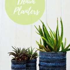 No Sew Chair Pockets Tall For Standing Desk How To Make A Gorgeous Recycled Jean Planter - Pillar Box Blue