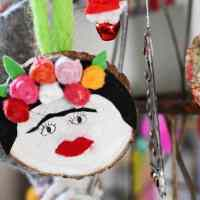How To Make A Fun Frida Kahlo Christmas Ornament