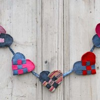 How To Make An Upcycled Scandi Woven Hearts Garland