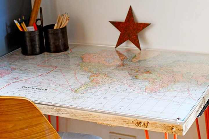 How To Make A Unique World Map Desk