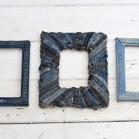 How To Make A Denim Photo Frame Out Of Old Jeans