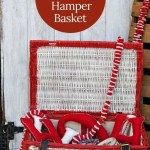 How To Paint A Wicker Basket For Christmas Pillar Box Blue