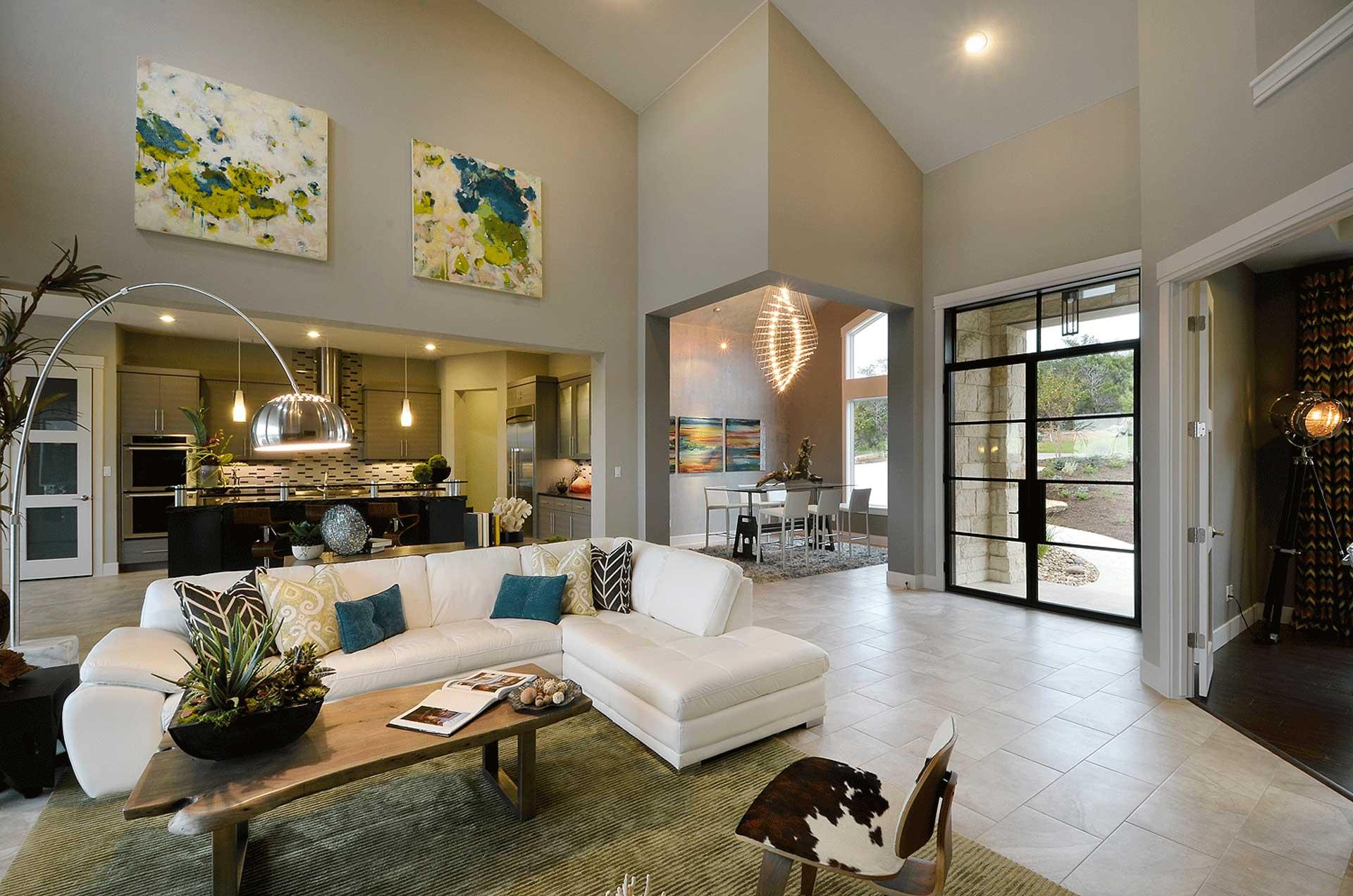 Texas Contemporary Parade Home  Pillar Custom Homes Inc
