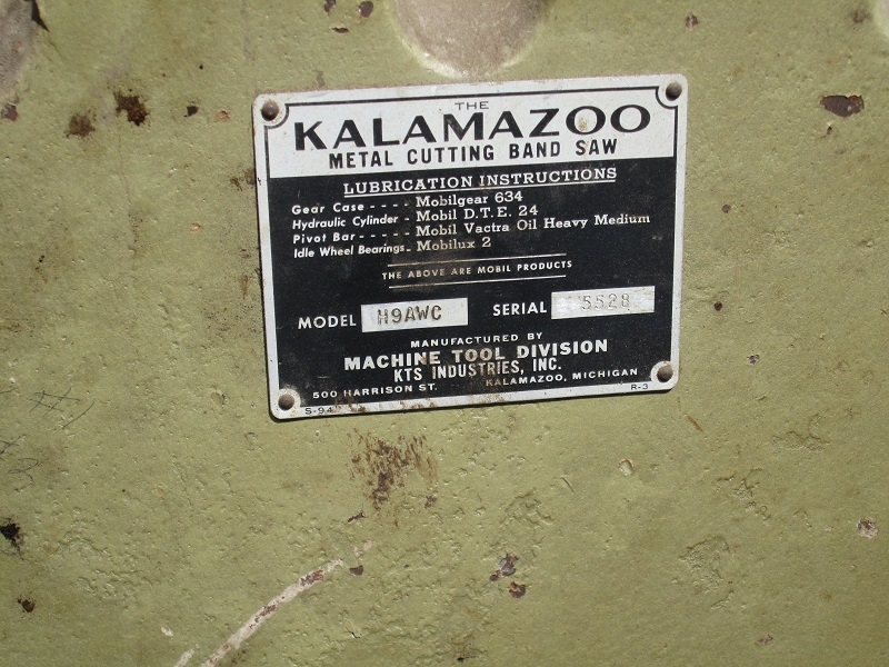 Kalamazoo Metal Cutting Band Saw