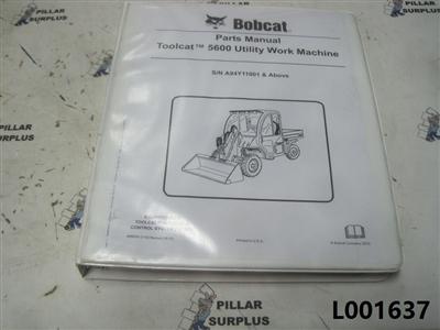 Bobcat Toolcat 5600 Utility Vehicle Parts Manual S/N