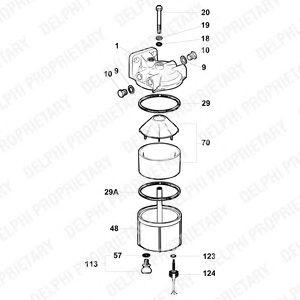 C.A.V. Delphi Fuel Filter/Separator 5836B250