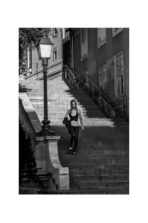papier monochrome - l'escalier