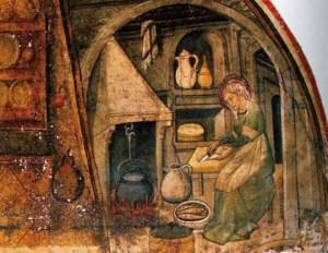 Una cucina italiana medievale