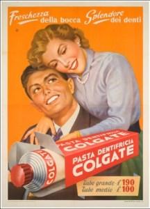 Vecchia pubblicità del dentifricio Colgate