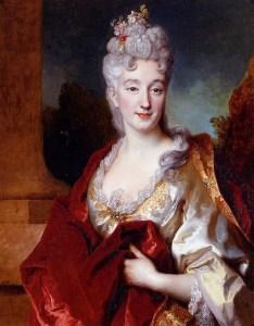 Ritratto di dama del '700, forse la Contessa de Courcelles, Nicolas de Longilliere, 1714 (da pescaralovefashion.com)
