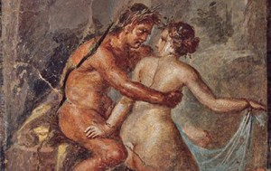 Ancient Romans in intimate attitude