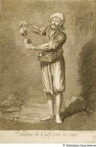 Venditore ambulante di caffè (1707) di Gérard Scotin