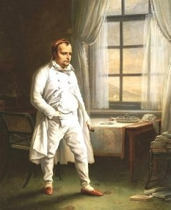 Napoleon prisoner on St. Helena