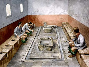 Las letrinas romanas, los baños públicos de la antigua Roma