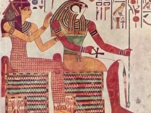Una coppia egiziana unita in matrimonio