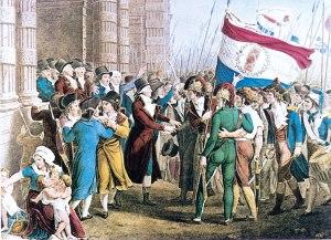 Folla durante la Rivoluzione Francese